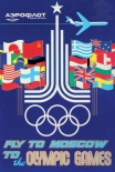 Открытка Aeroflot: Fly to Moscow to the Olympic Games, 1979